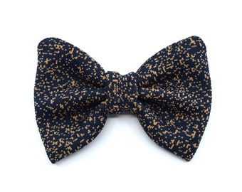 Galaxy collection - bow tie black - brown spots