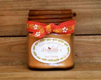 Pumplin Soufflé Candle, Mason Jar Candle, Pumpkin Candle, 100% Soy Candle, Fall Candle, Orange Candle, Christmas Candle, Autumn Candle