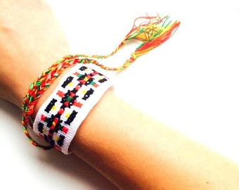 Embroidery Cuff Bracelet ,Ukrainian handmade Cuff bracelet ,Ukrainian Embroidery Cuff bracelet,