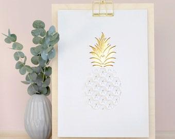 Pineapple Papercut