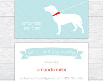 Pet business card etsy dog trainer business cards dog walker calling card personalized business card dog sitting colourmoves