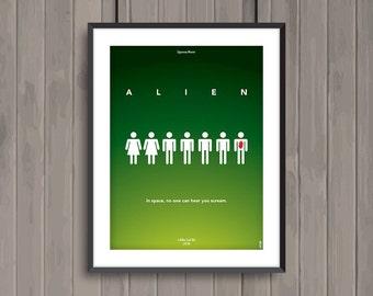 ALIEN, minimalist movie poster