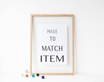 Modern Made to Match Item