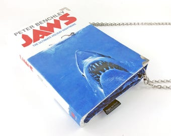 """Jaws, Jaws clutch, Movie lover gift, Gift for film buff, Shark lover gift, 1972 gift, Thriller purse, """"You're going to need a bigger bag"""""""