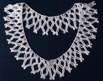 White crochet collar, White crochet necklace, Detachable collar, Lace collar, Crochet Jewelry,Women accessory