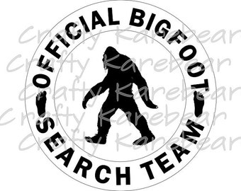 Big Foot Search Team SVG Digital File Download