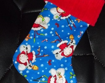 Christmas Fairy and Chenille Handmade Christmas Stocking FREE US SHIPPING