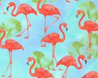 Fabric - Robert Kaufman - Flamingo paradise -woven cotton