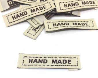 20 Label, Handmade, gray, woven