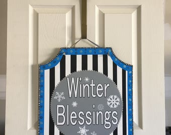Winter Door Hanger & Winter door hanger | Etsy