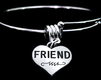 Friend Bracelet Friend Charm Bracelet Friend Jewelry Best Friend bracelet Friends forever bracelet Buy 2 so you can have a set