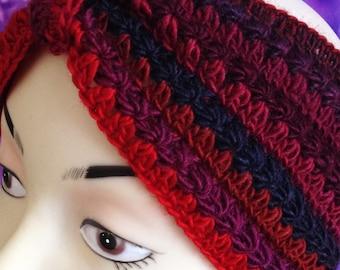Red Crochet Headband/ Chunky crochet headband/ Crochet Ear Warmer/ Winter Headband/ Womens Headband/ Chunky Ear Warmer/ Thick headband Gift