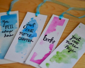 Sassy Watercolor Bookmarks