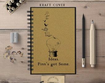 Writing Notebook, Hardcover Notebook, Custom Name Journal, Spiral Notebook, Writing Notebook, Creative Gift, Bullet Journal