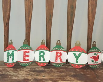 Vintage Merry Christmas Paper Garland