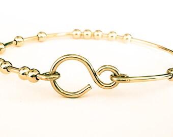 18 Chai Good Luck Bangle Bracelet, Stacking Bangle Bracelet, 18 Beads Bracelet, Handmade