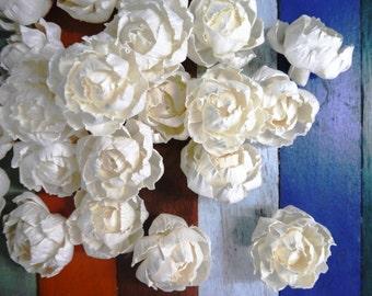 15 Peony Roses Sola Wood Diffuser Flowers 5 cm Dia. No.2