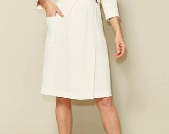 Linda wrap dress sewing pattern size 34-46 - Just Patterns #2102