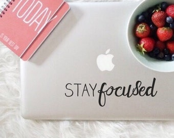 Stay Focused, Laptop Stickers, Laptop Decal, Macbook Decal, Car Decal, Vinyl Decal