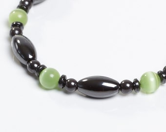 Green and Magnetite Magnetic Therapy Bracelet by Happy and Healthy
