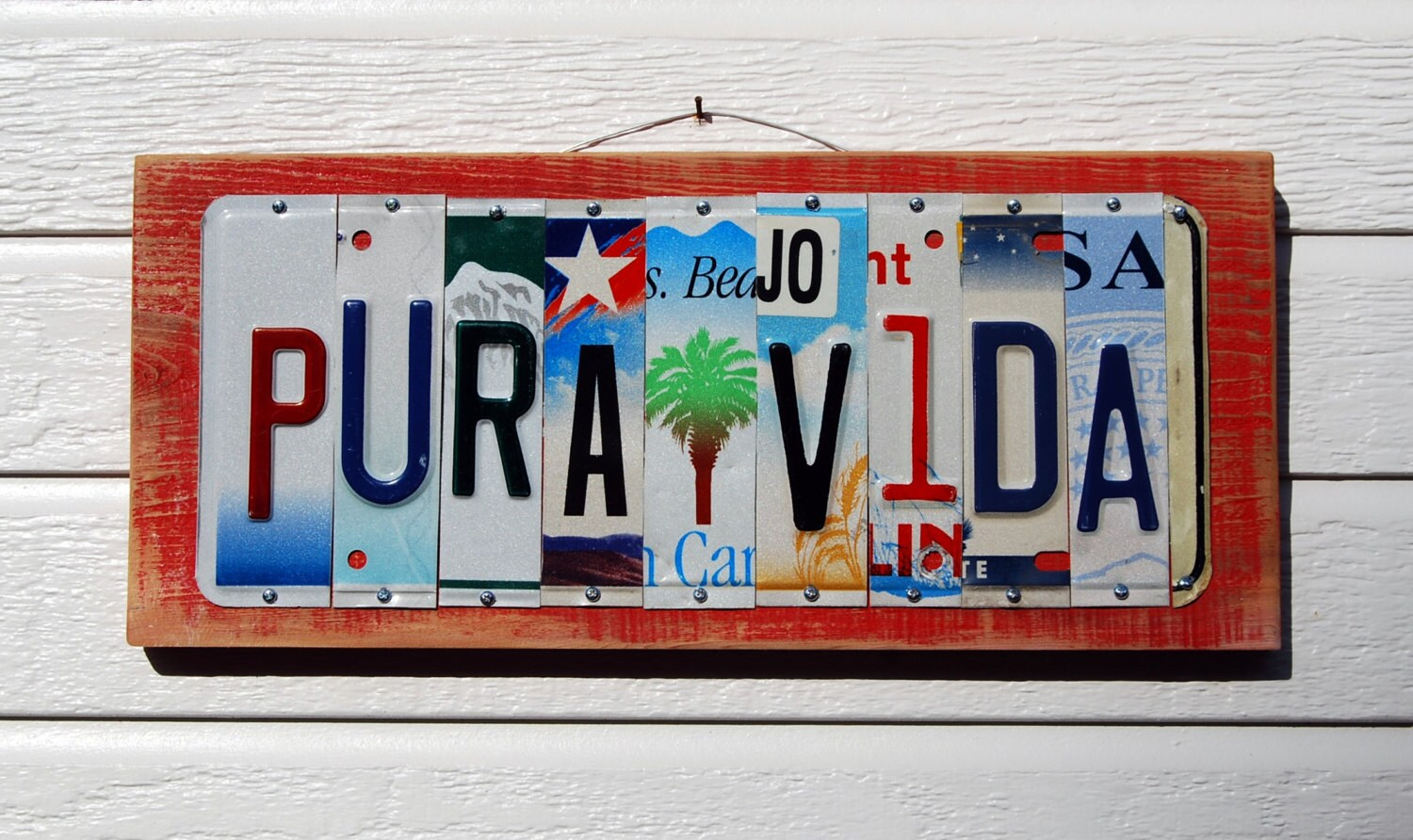 Pura Vida License Plate Sign # Muebles Pura Vida