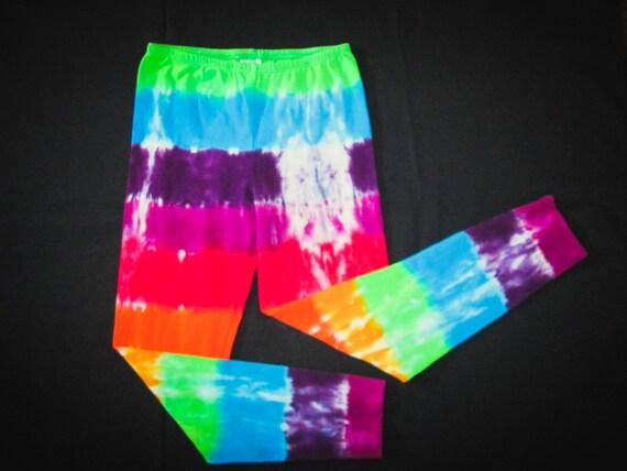 Girls Rainbow Tie Dye Leggings/Youth Leggings/Gifts for Kids/Great Stocking Stuffer/Eco-Friendly Dying