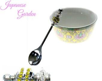 Asian Teacup & Beadable Jelly Spoon