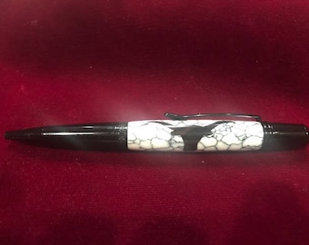 Lovely Black Ebony Steer Pen  ( 1410 )