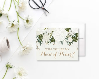 Cute Maid of Honor Card Will you be my Maid of Honor Proposal Card Ask Maid of Honor Card Bridal Party Cards Be my Bridesmaid #CL112