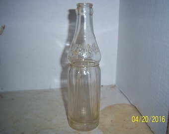 1940's Lafayette Bottling Company Manchester, NH  8 oz clear deco soda bottle 8 5/8 inches tall