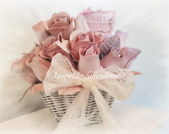 Sweet Memories bouquet of roses shabby chic
