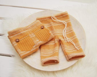 Newborn Pants Prop, Newborn Boy Pants, Newborn Photo Prop, Newborn Props, Baby Boy Outfit, Newborn Outfit, Baby Photo Outfit, Orange, 086