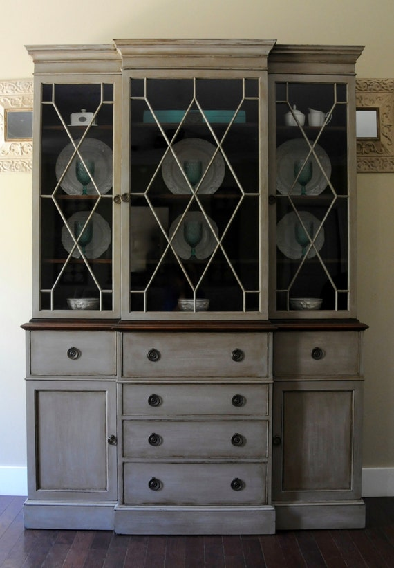 Sold Vintage Baker French Country China Hutch Shabby