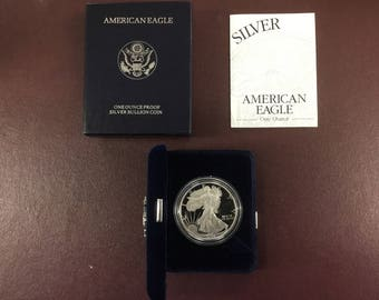 1994 Proof American Silver Eagle w/paper work and original box