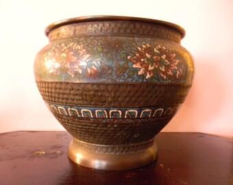 Vintage Magnificent Champleve Cloisonne Urn