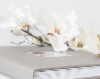 Personalized CAMEO Wedding Album, Baby, Family Photo Album, Leather Album, 20 pages