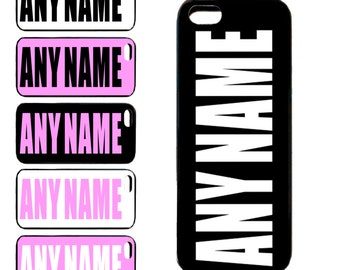 Personalised Any Name iPhone Cases 4 5 5c 5s 6 6+ Cover iPod 4 & 5