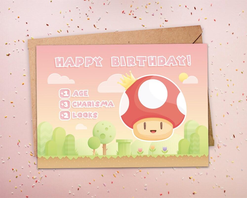 Funny birthday card gamer birthday geeky birthday nerdy zoom bookmarktalkfo Gallery