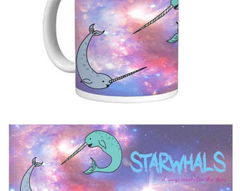 Starwhals Mug. Narwhals in space.