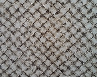 Lauhala Weave Print in Cotton   (Yardage available)