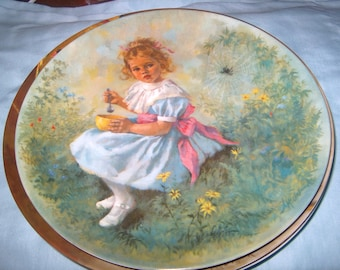 Vintage Plate, Little Miss Muffet, Third Issue, Mother Goose Series, McClelland, Reco, 1981
