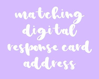 Digital Matching Response Card. Add on Item