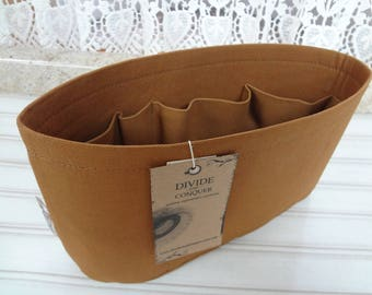 Nutmeg / Purse ORGANIZER Insert SHAPER / Flexible or Stiff Bottom / STURDY / 5 Sizes Available / Check out my shop for more colors & styles