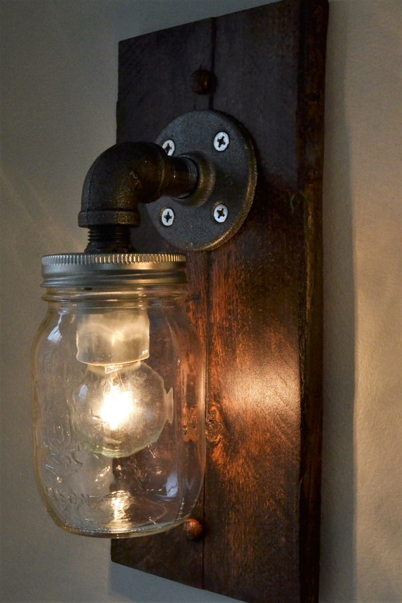 Industrial wall light wall sconce steampunk light old aloadofball Choice Image