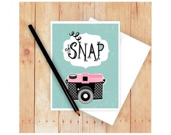 Photography card etsy oh snap card photography card camera stationery birthday card im bookmarktalkfo Image collections