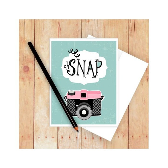 Oh snap card photography card camera stationery birthday bookmarktalkfo Image collections
