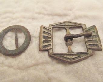 2 Vintage Buckles Metal SALE