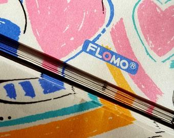 Super cute kawaii retro kitsch 80's Flomo stationery letter set paper envelopes boxed!!