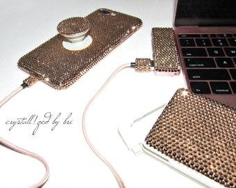 Custom CRYSTALLIZED iPhone Slim Case 5 5s Se 6 6+ 6s 6s+ 7 7+ 8 8+ X Bling Swarovski Crystals CRYSTALL!ZED by Bri