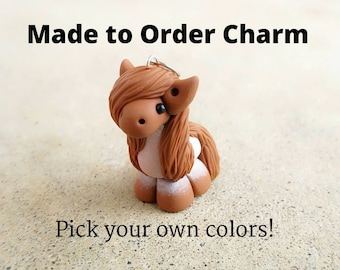 Pick Your Own Colours - Custom Polymer Clay Horse/Unicorn Charm